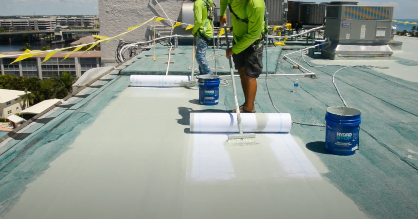 GAF Hydro Stop residential flat roof Tampa Bay