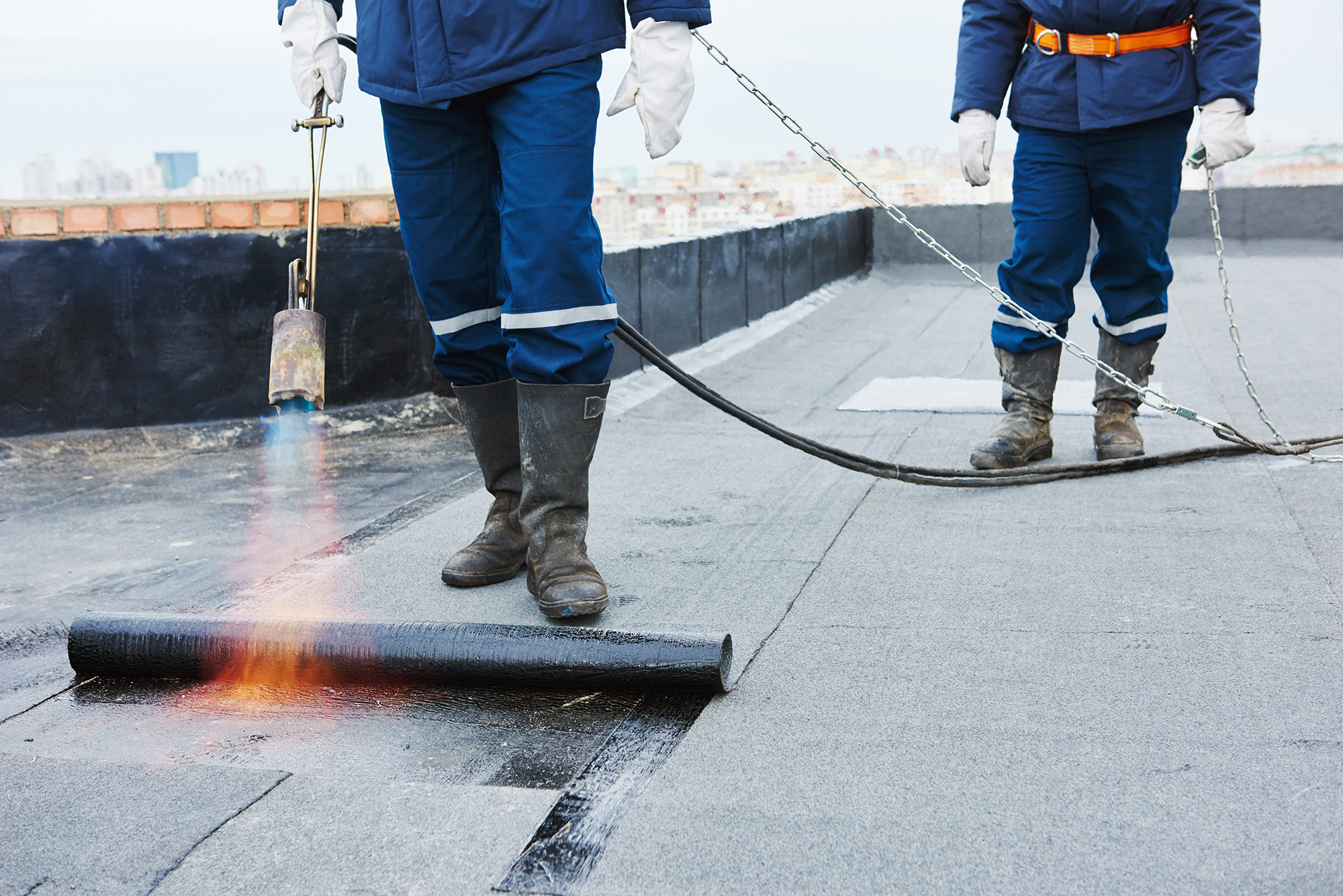 Commercial flat roof problems